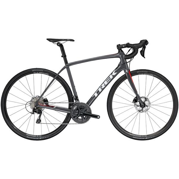 Trek Domane SL 5 Disc Color: Solid Charcoal/Viper Red