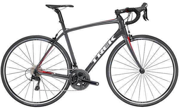 Trek Domane SL 5 Color: Solid Charcoal/Viper Red