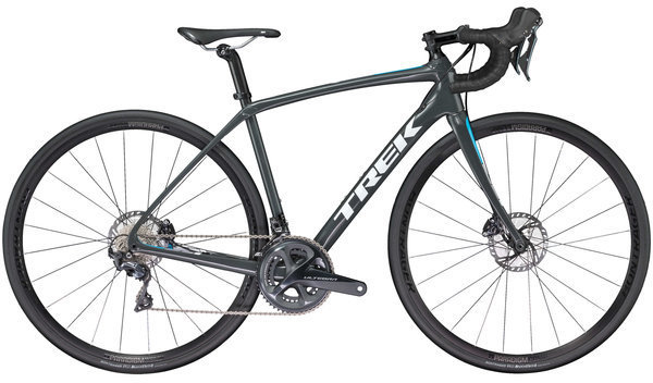 Trek Domane SL 6 Disc Women's Color: Solid Charcoal/California Sky Blue
