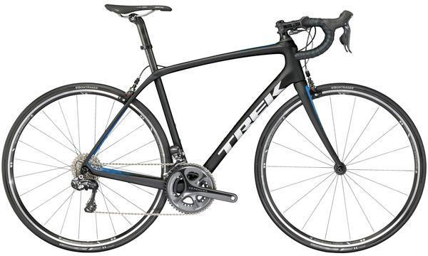 Trek Domane SL 7 Color: Matte Trek Black/Waterloo Blue