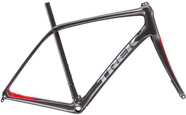 Trek Domane SL Disc Frameset Color: Dnister Black/Viper Red