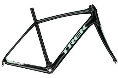 Trek Domane SL Frameset Women's Color: Semigloss Trek Black/Sprintmint