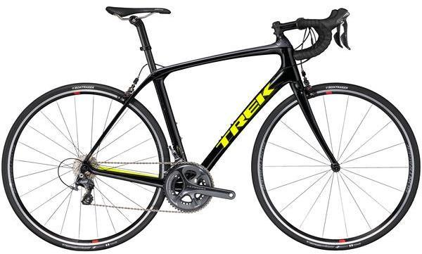 Trek Domane SLR 6 Color: Black/Charcoal/Yellow-P1