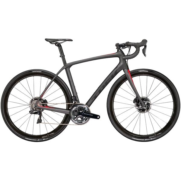 Trek Domane SLR 9 Disc Color: Matte Dnister Black/Viper Red
