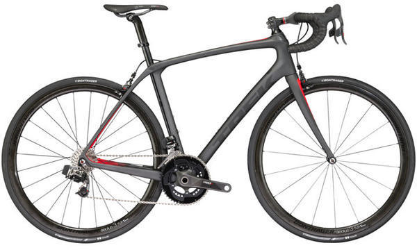 Trek Domane SLR 9 eTap Color: Matte Dnister Black/Viper Red