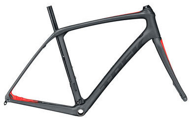 Trek Domane SLR Disc Frameset Color: Matte Dnister Black/Viper Red