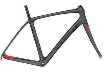 Trek Domane SLR Frameset Color: Matte Dnister Black/Viper Red