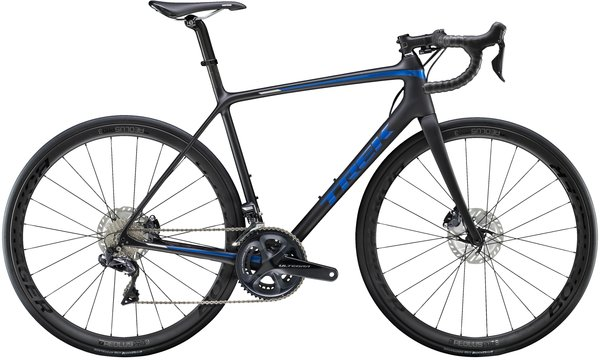 Trek Emonda SL 7 Disc Color: Matte Black/Gloss Blue