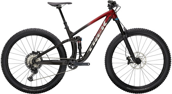 Trek Fuel EX 8 XT Color: Rage Red to Dnister Black Fade