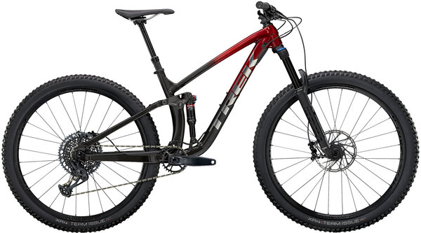 Trek Fuel EX 8 GX Color: Rage Red to Dnister Black Fade