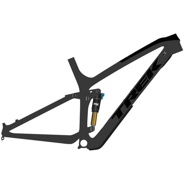 Trek Fuel EX C Frameset Color: Matte Carbon Smoke/Gloss Trek Black