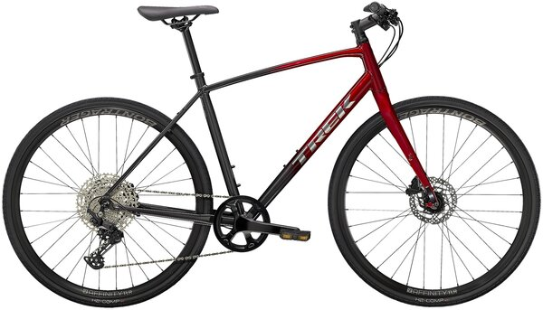 Trek FX 4 Disc Color: Dnister Black to Radioactive Red Fade