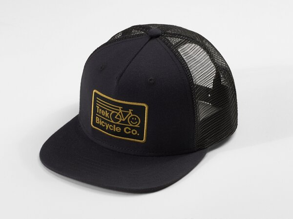 Trek Happy Bike Trucker Hat Color: Black