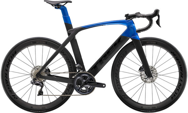 Trek Madone SL 7 Disc Color: Matte Black/Gloss Alpine Blue