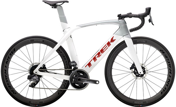 Trek Madone SL 7 eTap Color: Crystal White/Quicksilver
