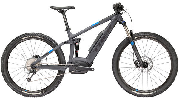 Trek Powerfly 5 FS Color: Matte Solid Charcoal/Trek Black