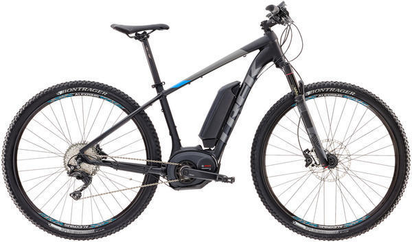 Trek Powerfly 7 Color: Matte Trek Black/Waterloo Blue