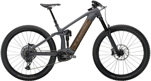 Trek Rail 9.8 Color: Solid Charcoal to Root Beer Ano Decal