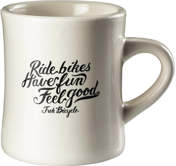 Trek Ride Bikes Have Fun Diner Mug Color: White