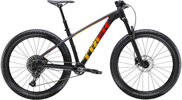 Trek Roscoe 8 Color: Matte Black/Red/Marigold Fade