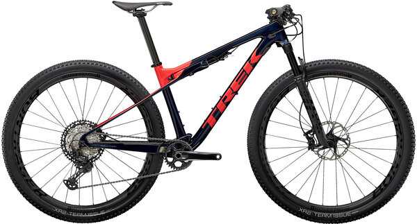 Trek Supercaliber 9.8 XT Color: Carbon Blue Smoke/Radioactive Coral