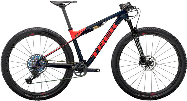 Trek Supercaliber 9.9 XX1 Color: Carbon Blue Smoke/Radioactive Coral