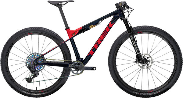 Trek Supercaliber 9.9 XX1 AXS Color: Carbon Blue Smoke/Radioactive Coral