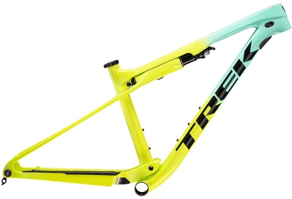 Trek Supercaliber Frameset Color: Miami Green to Volt Fade