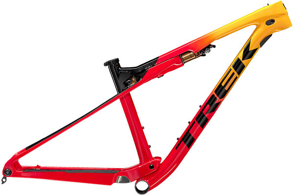 Trek Supercaliber Frameset Color: Marigold to Radioactive Red Fade