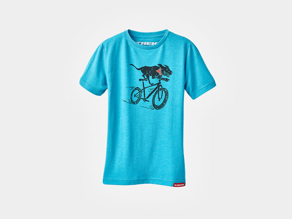 Trek Trail Dog Youth T-Shirt Color: Turquoise