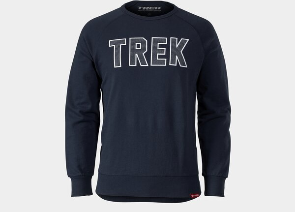 Trek Twill Logo Crewneck Sweatshirt Color: Navy