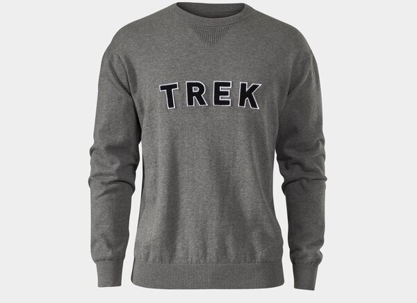 Trek Varsity Crewneck Sweatshirt Color: Grey