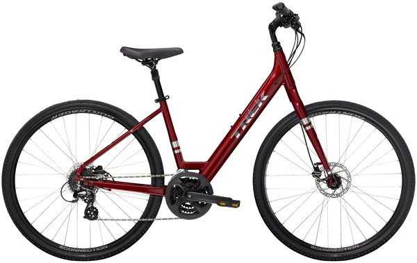 Trek Verve 2 Disc Low Step Color: Rage Red
