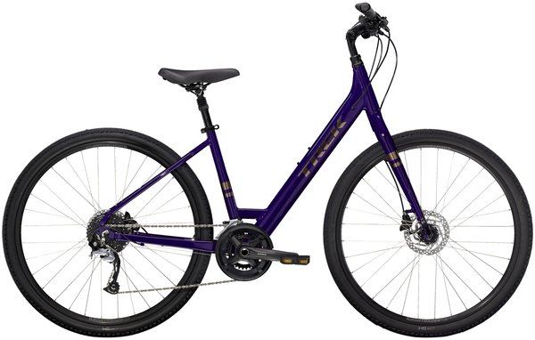 Trek Verve 3 Disc Low Step Color: Purple Abyss