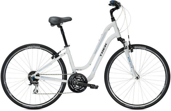 Trek Verve 3 WSD - Women's Color: Crystal White/Trek Cyan