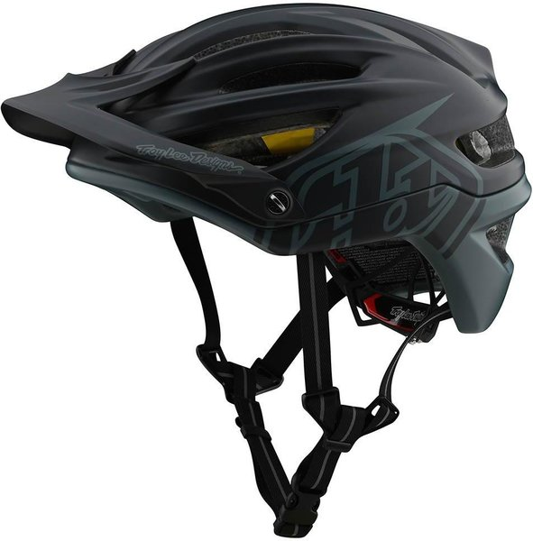 Troy Lee Designs A2 Helmet w/MIPS Decoy Color: Gray/Green