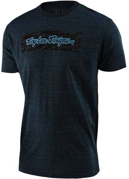 Troy Lee Designs Signature Block Camo Tee Color: Midnight Blue
