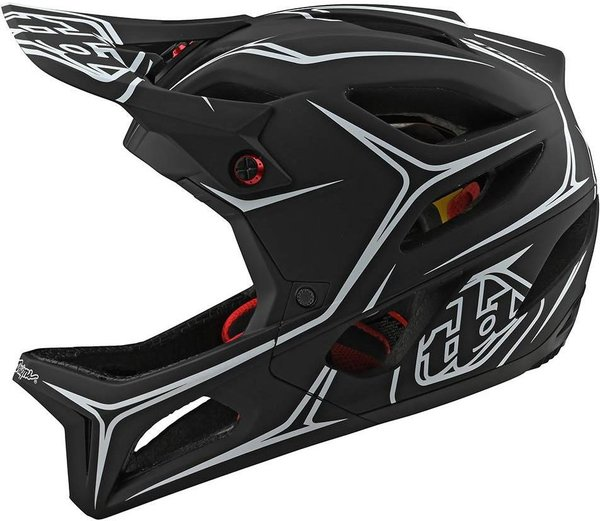 White Troy Lee Designs 2020 BMX//MTB Stage Helmet w//MIPS Pinstripe Black