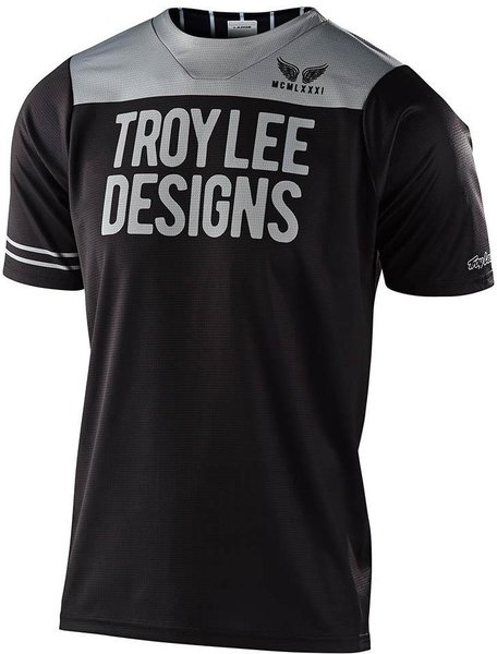 Troy Lee Designs Youth Skyline Short Sleeve Jersey Pinstripe Block Color: Black/Gray