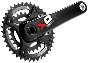 TruVativ X0 2.2 Crankset (39/26, BB30) Color: Red
