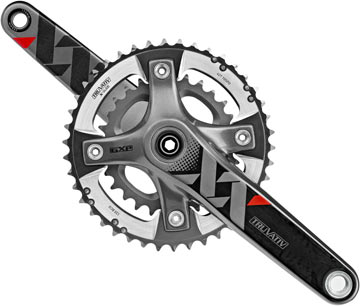 SRAM XX Crankset Color: Black/Silver