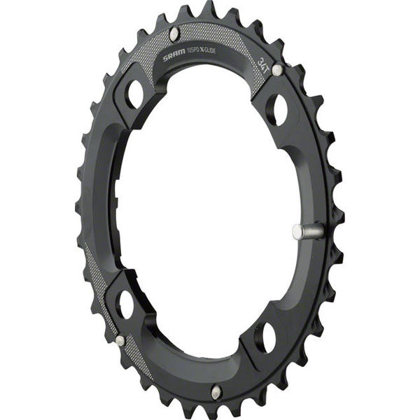 TruVativ 2x10 Chainring Color | Model | Size | Speeds: Black | Medium Pin | 34T | 10