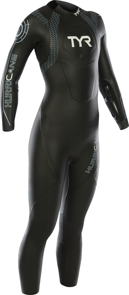 TYR Women's Hurricane Category 2 Color: Black/Lt Blue