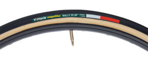 Vittoria Rally Tubular Color: Black/Tan
