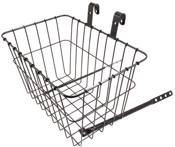 Wald 135 Grocery Front Basket Color: Black