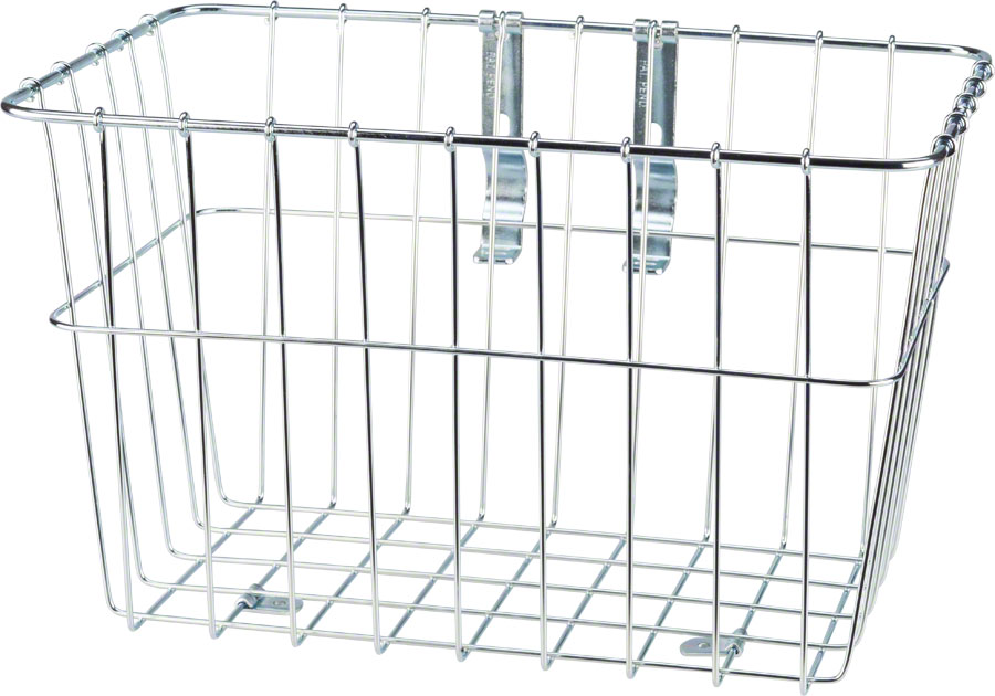 Wald 1352 Front Grocery Basket with Adjustable Legs Color: Silver