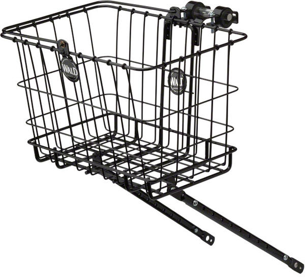 Wald 3339 Multi-Fit Front Basket & Rack Combo Color: Black