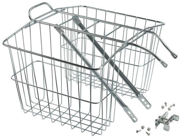 Wald 520 Twin Rear Carrier Basket Color: Plated