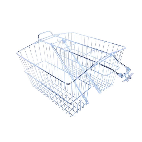 Wald 535 Twin Rear Carrier Basket Color: Plated