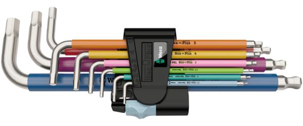 Wera 3950/9 Hex-Plus L-Key Hex Wrench Set